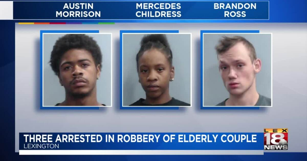 Three charged with robbing elderly couple at Walmart