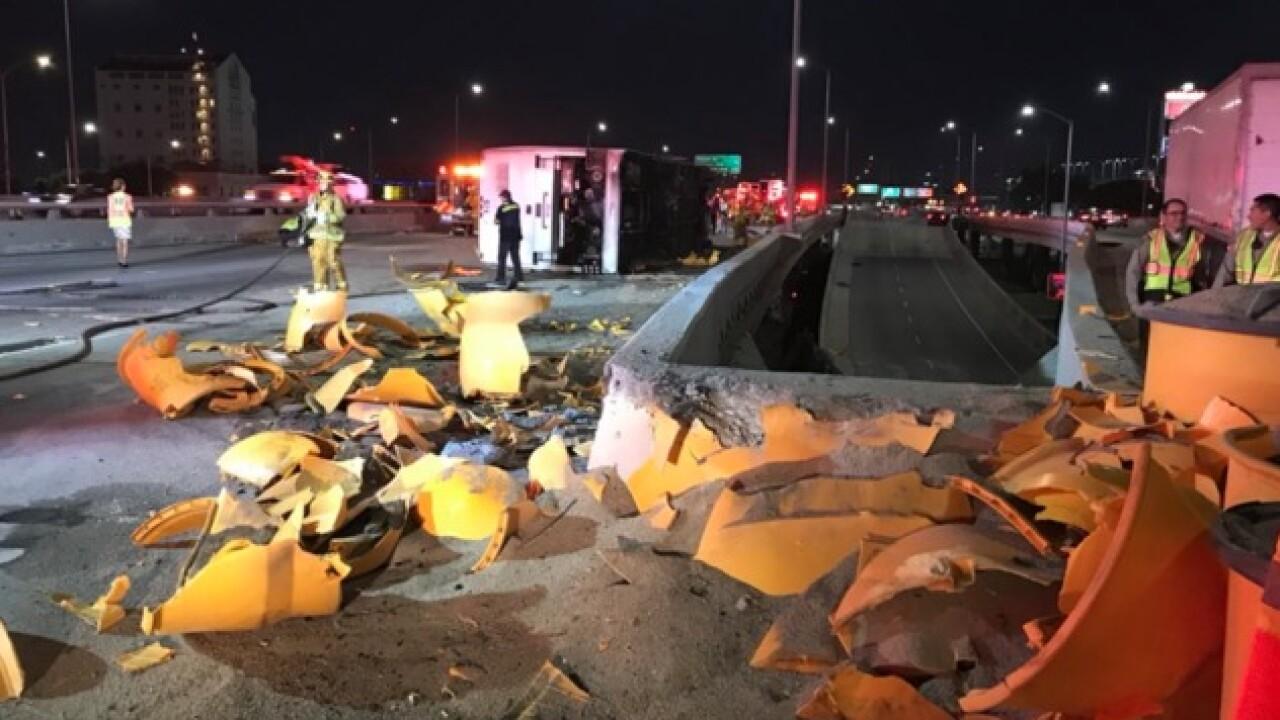 Casino bus crashes, 25 injured