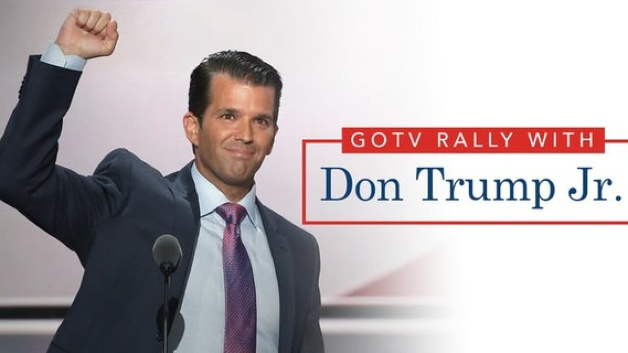 Donald Trump Jr. appearing in Las Vegas Nov. 2