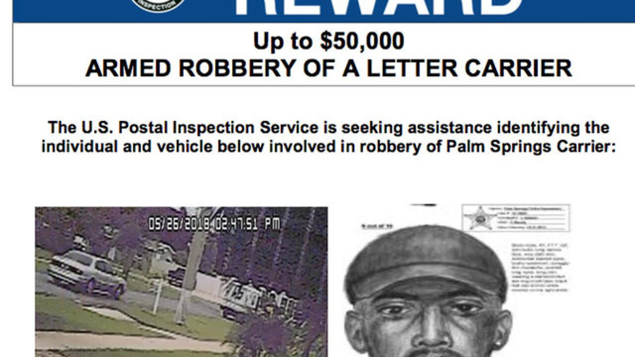 bdd9e23e Sketch released after postal carrier robbed in Palm Springs