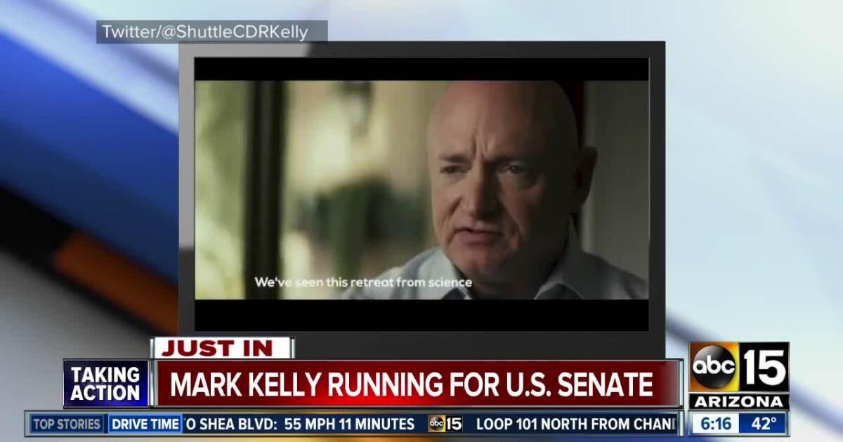 Mark Kelly announces run for US Senate