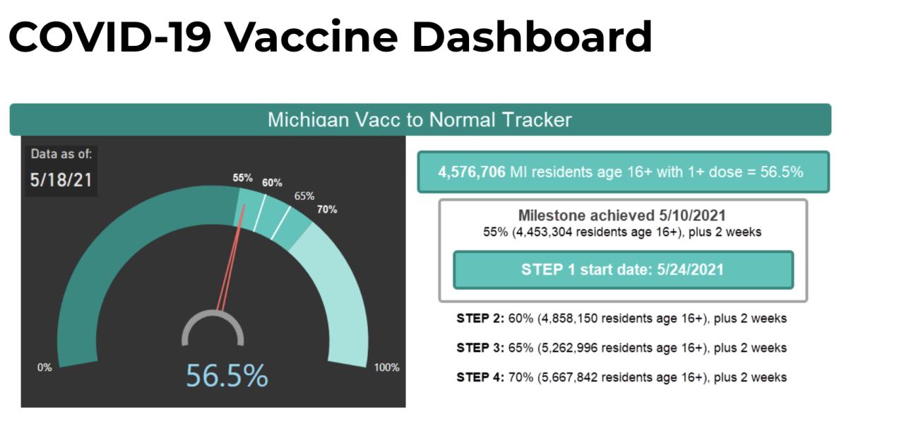 Michigan Vaccine Progress Tracker