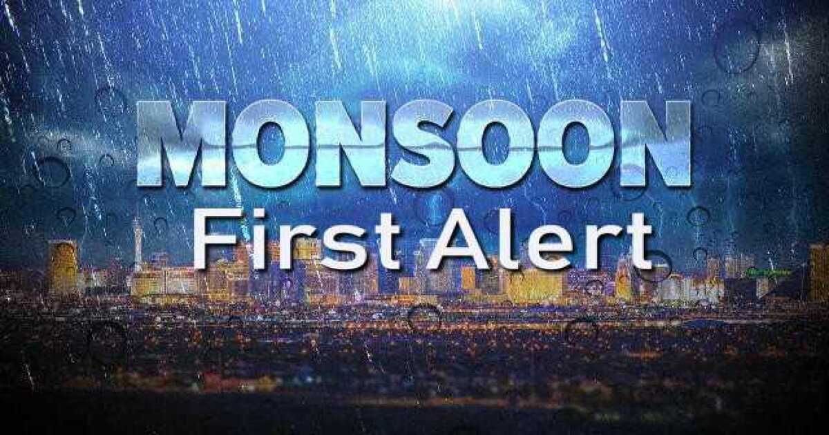 Monsoon First Alert Increase In Shower Storm Activity Over Southern Nevada