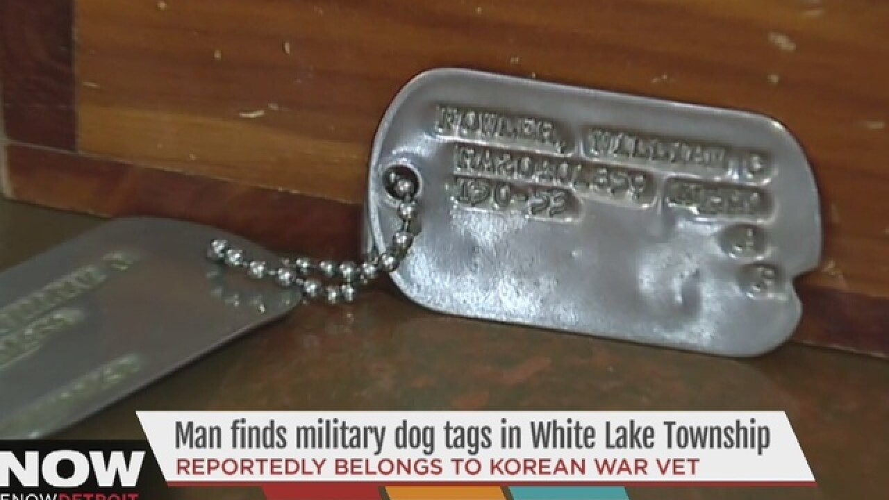 Man finds military dog tags in storage unit