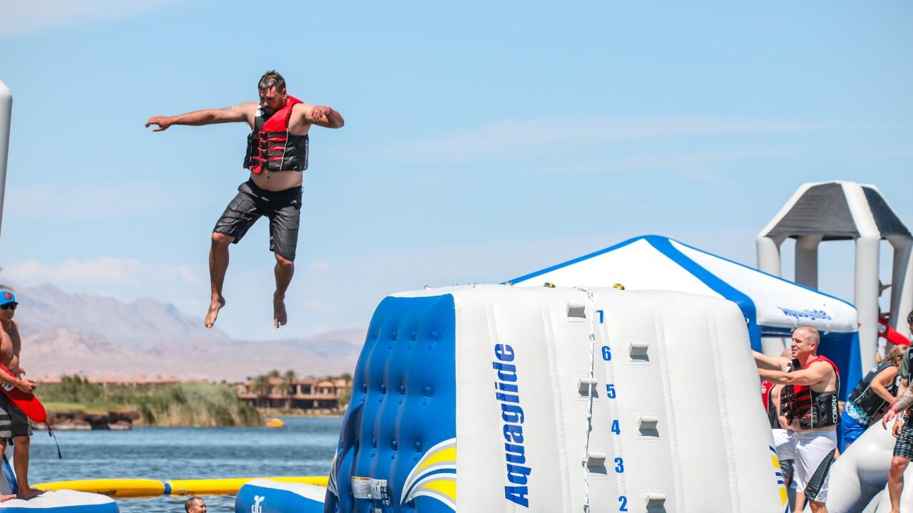 Lake Las Vegas_Aqua Park_Man Jumping.jpg