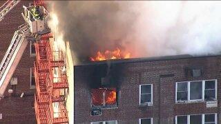 Fire tears through Bronx apartment building