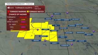 Tornado watch in Jefferson, Douglas and Franklin counties