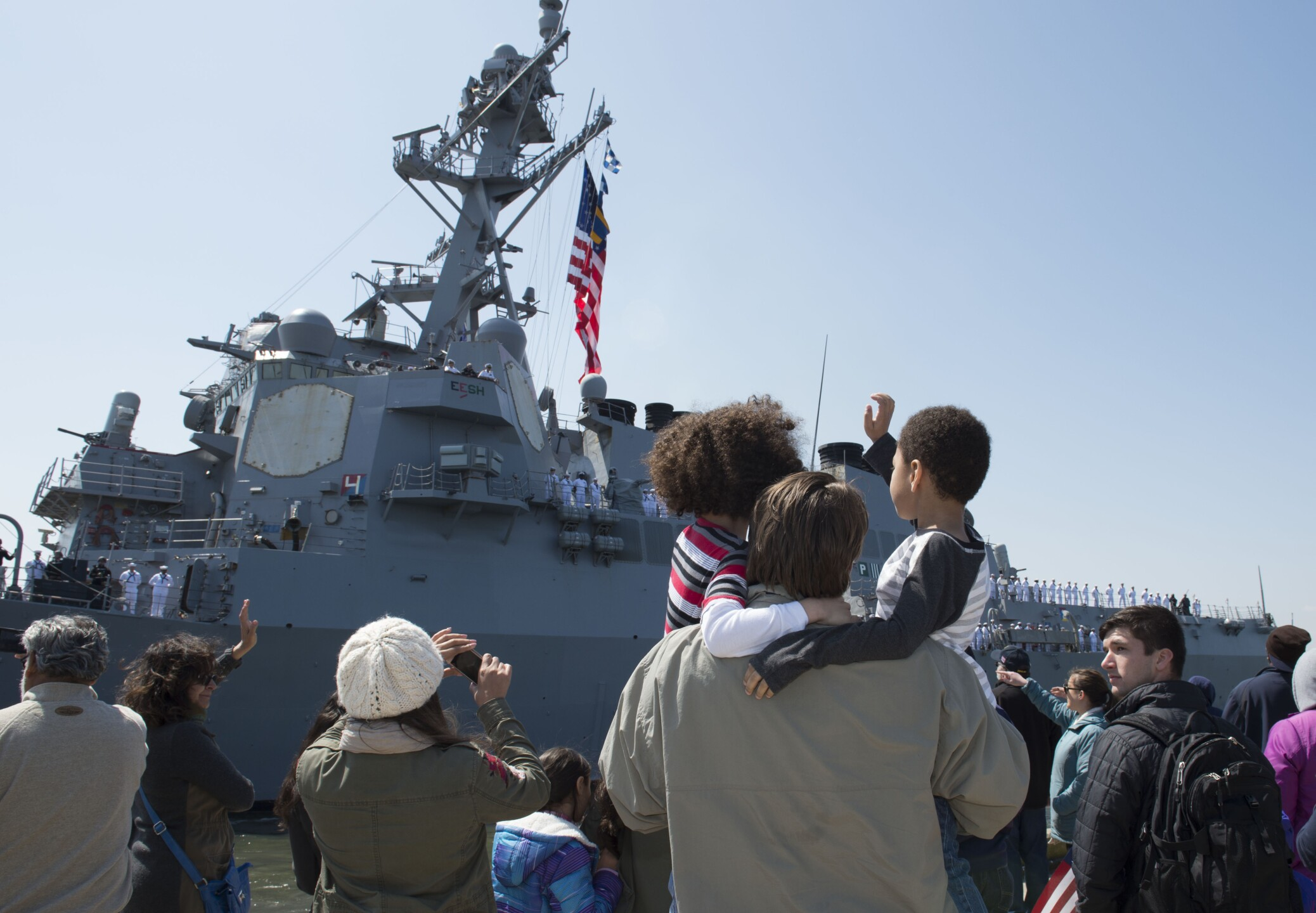 Photos: Nearly 6,500 Sailors return from deployment ahead of the holidays