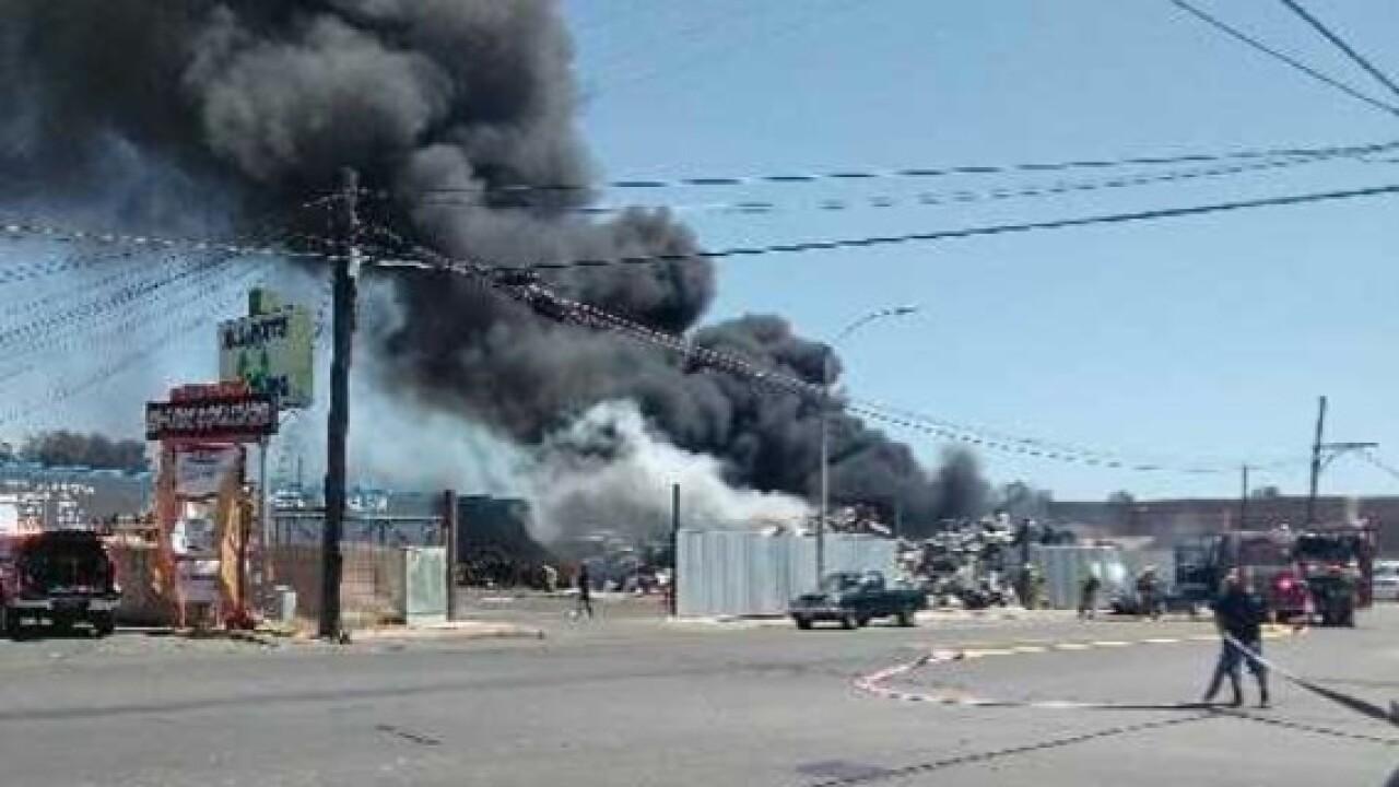 Recycling plant bursts into flames in El Cajon