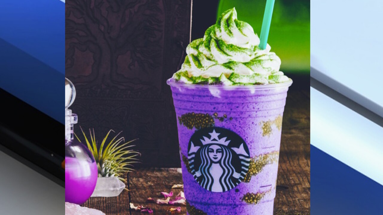 Starbucks releases Witch's Brew Frappuccino for Halloween