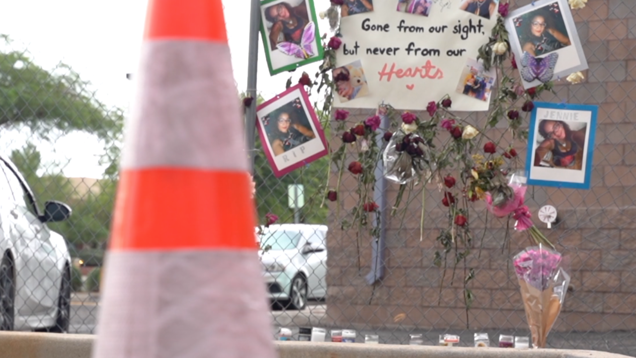 Memorial for Jennie Mills at the McDonald's where she worked