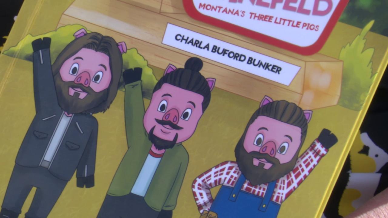 """Philly, Isaac, and Gus Swinefeld: Montana's Three Little Pigs."""