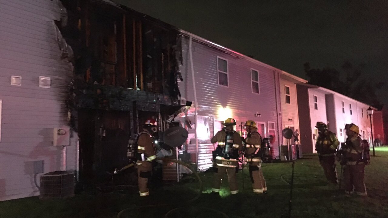 15 people displaced after fire rips through Chesapeake townhomes