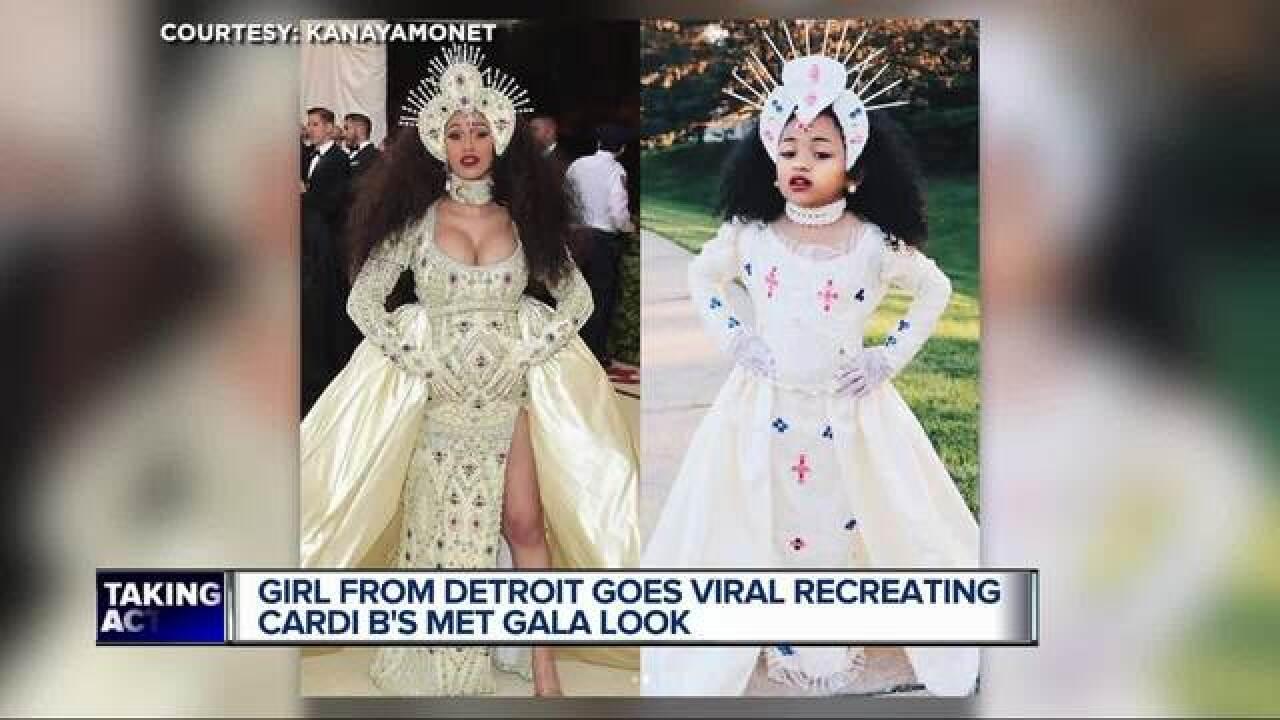 Cardi B Look Alike: Detroit Girl Goes Viral Recreating Cardi B's Met Gala Look