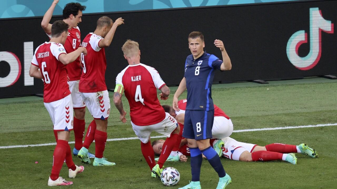 APTOPIX Denmark Finland Euro 2020 Soccer