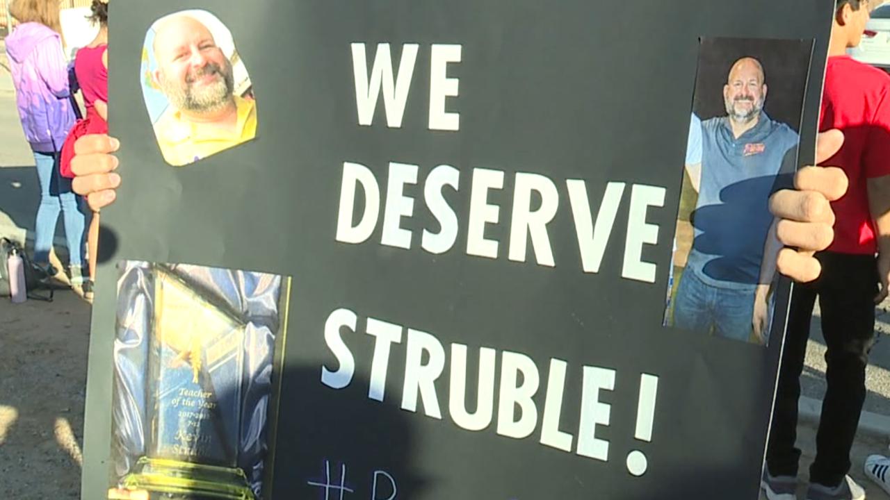 Maricopa teacher firing protest