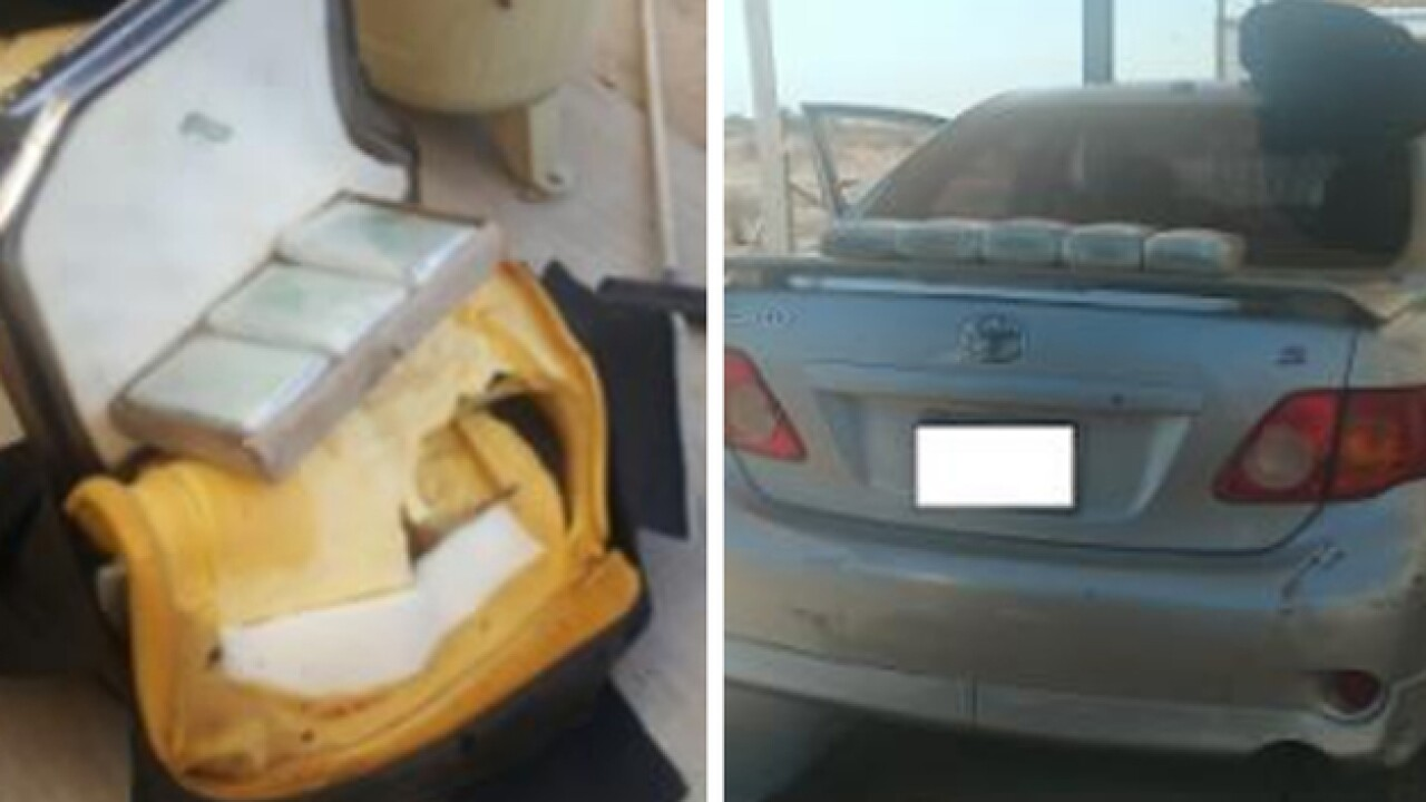 El Centro Border agents find nearly $200K in cocaine hidden in car's seats