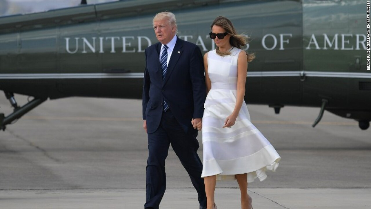 President Trump, First Lady make trip to Florida to survey Hurricane Michael damage