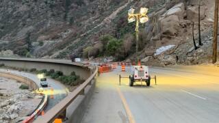 glenwood canyon blue gulch lights i-70