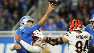 Jared Goff Bengals Lions Football