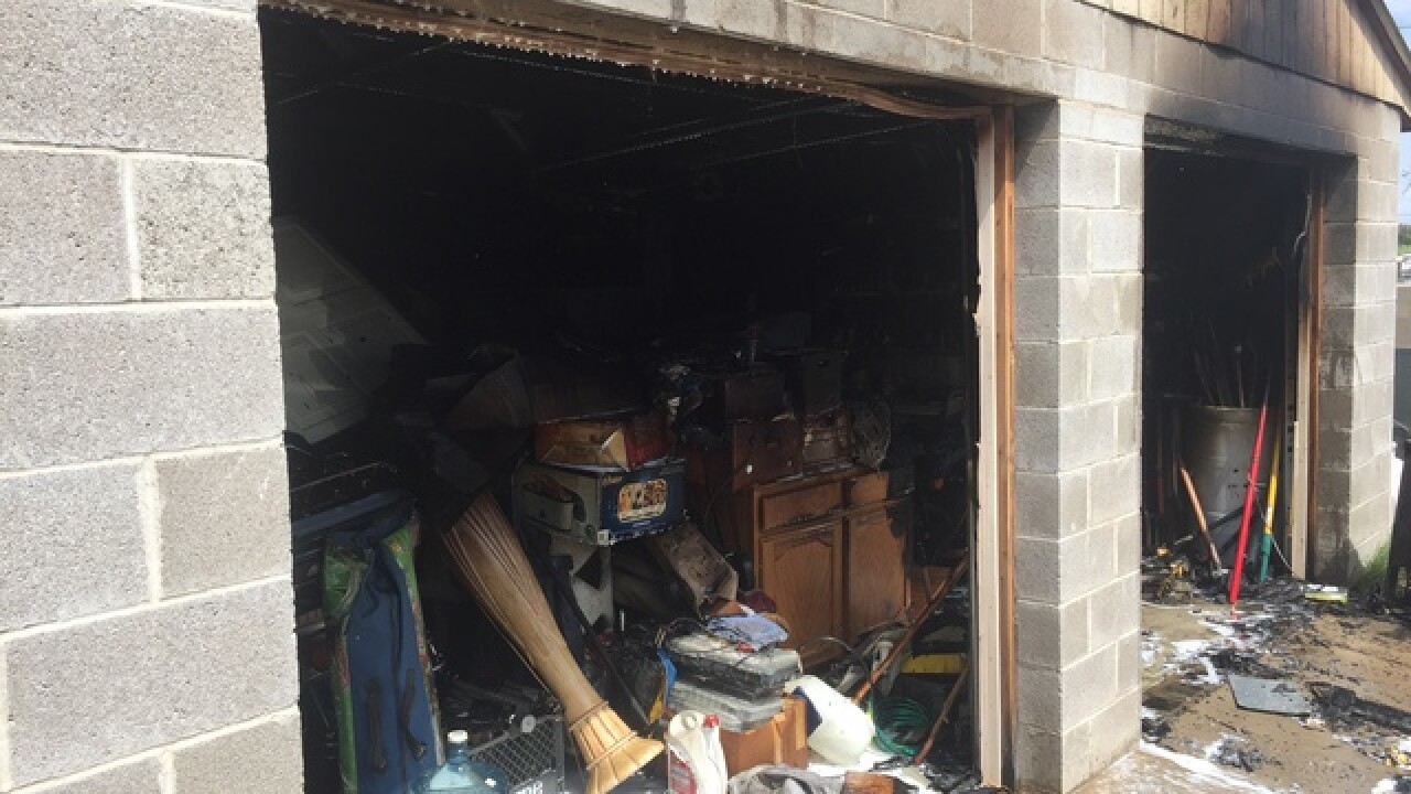 Tucson Fire Department responds to Garage Fire