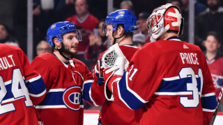 Montreal Canadiens celebrate win