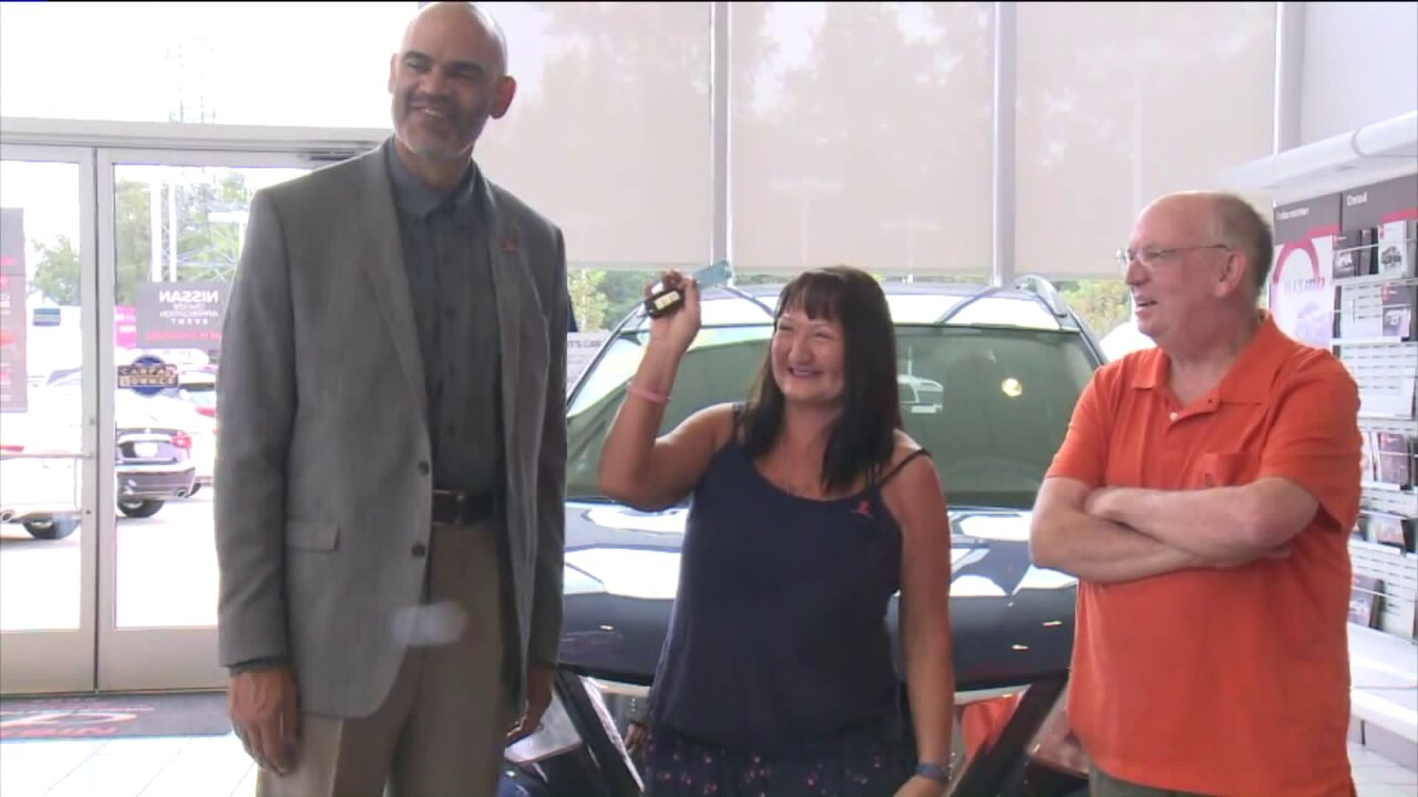 Winner of St. Jude car giveaway drives off in new SUV