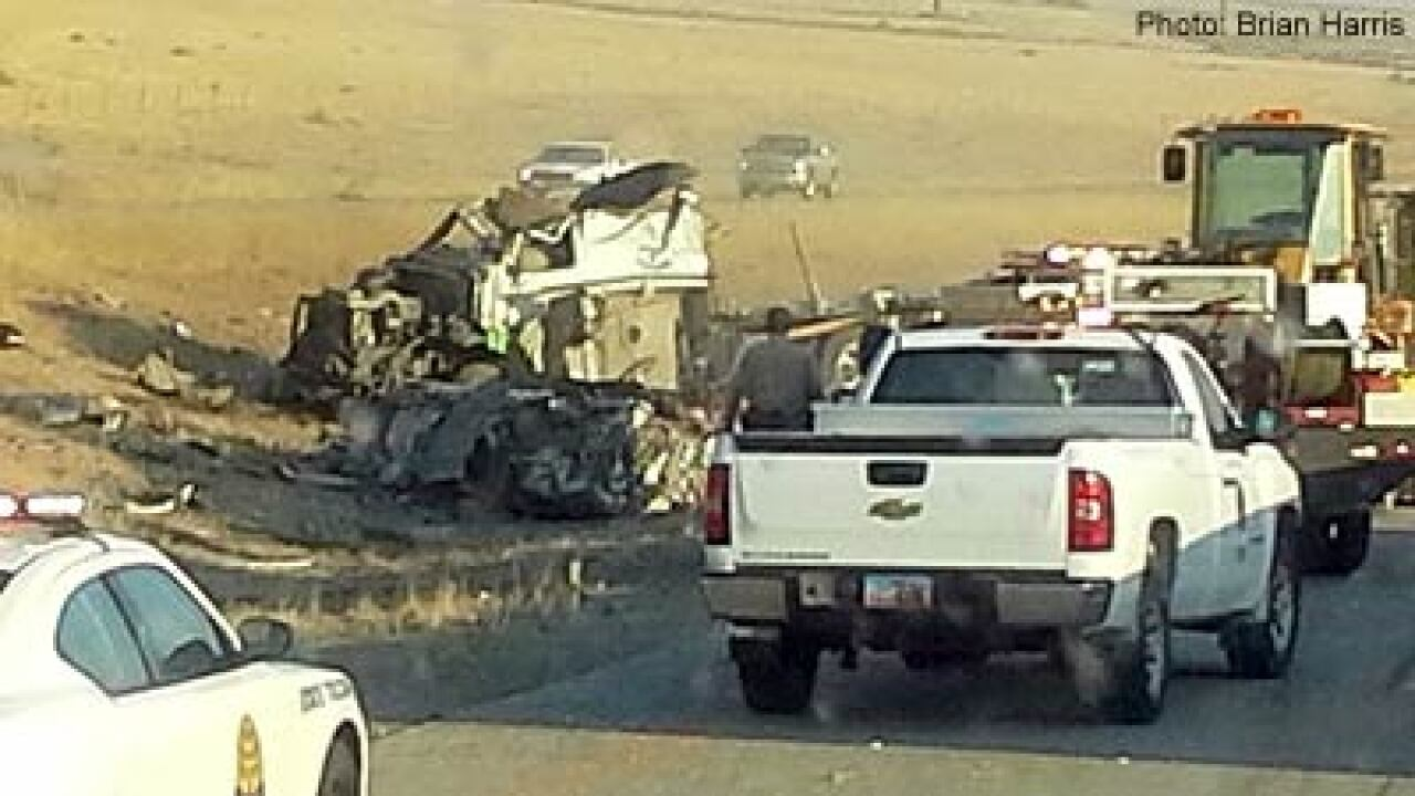 Semitrailer rolls on I-15 in Box Elder County