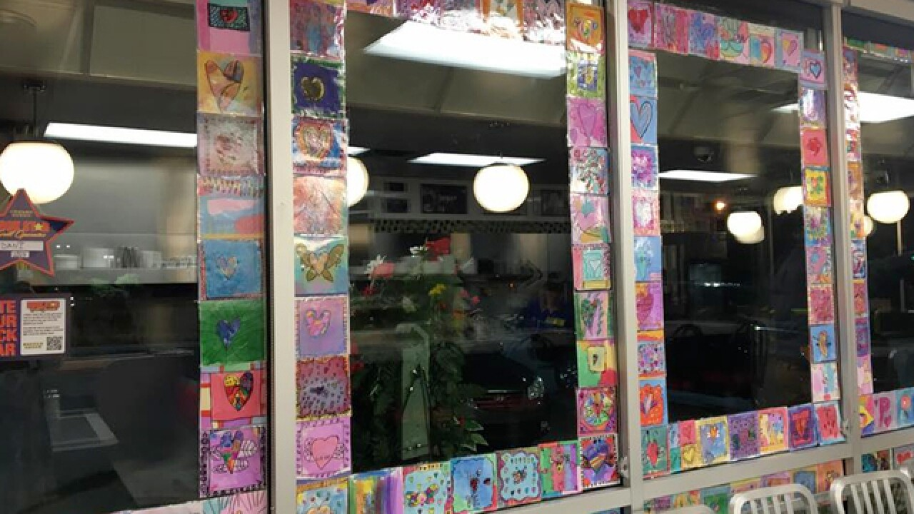 Cane Ridge Students Create 'Spread Love' Artwork For Waffle House