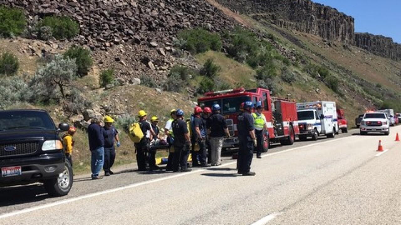 Boise Fire near diversion dam for rescue