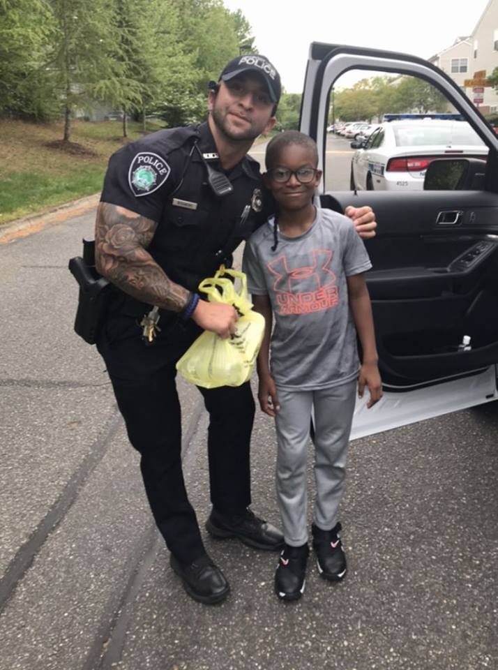 Photos: Newport News boy gives patrolling officer Easter dinner