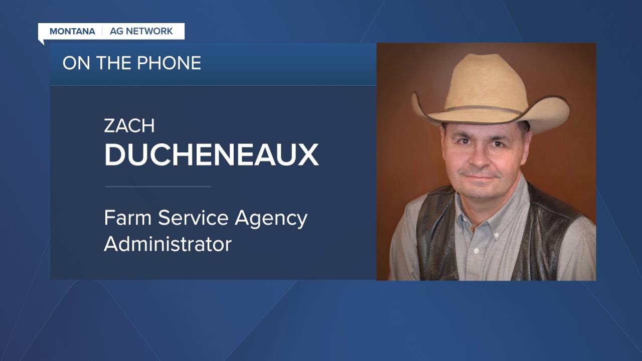Zach Ducheneaux with the Farm Service Agency