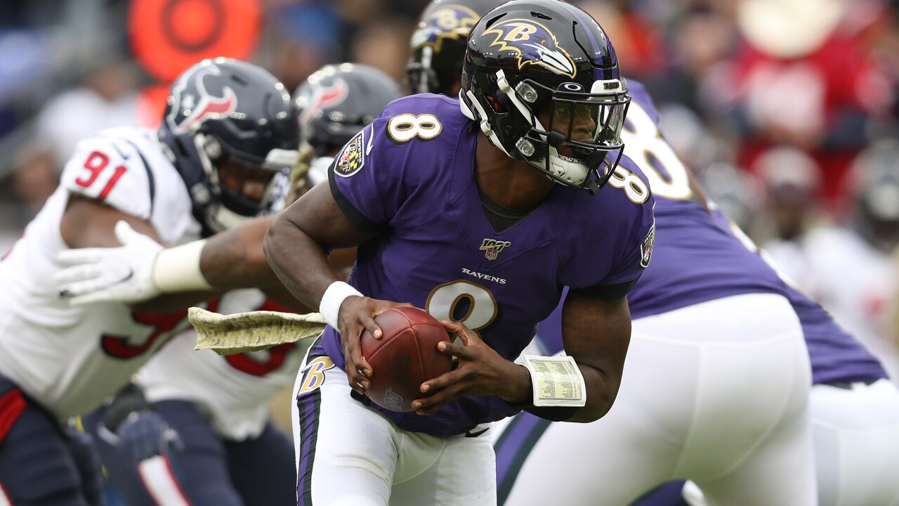 Ravens QB Lamar Jackson tops all NFL players in balloting for the 2020 Pro Bowl