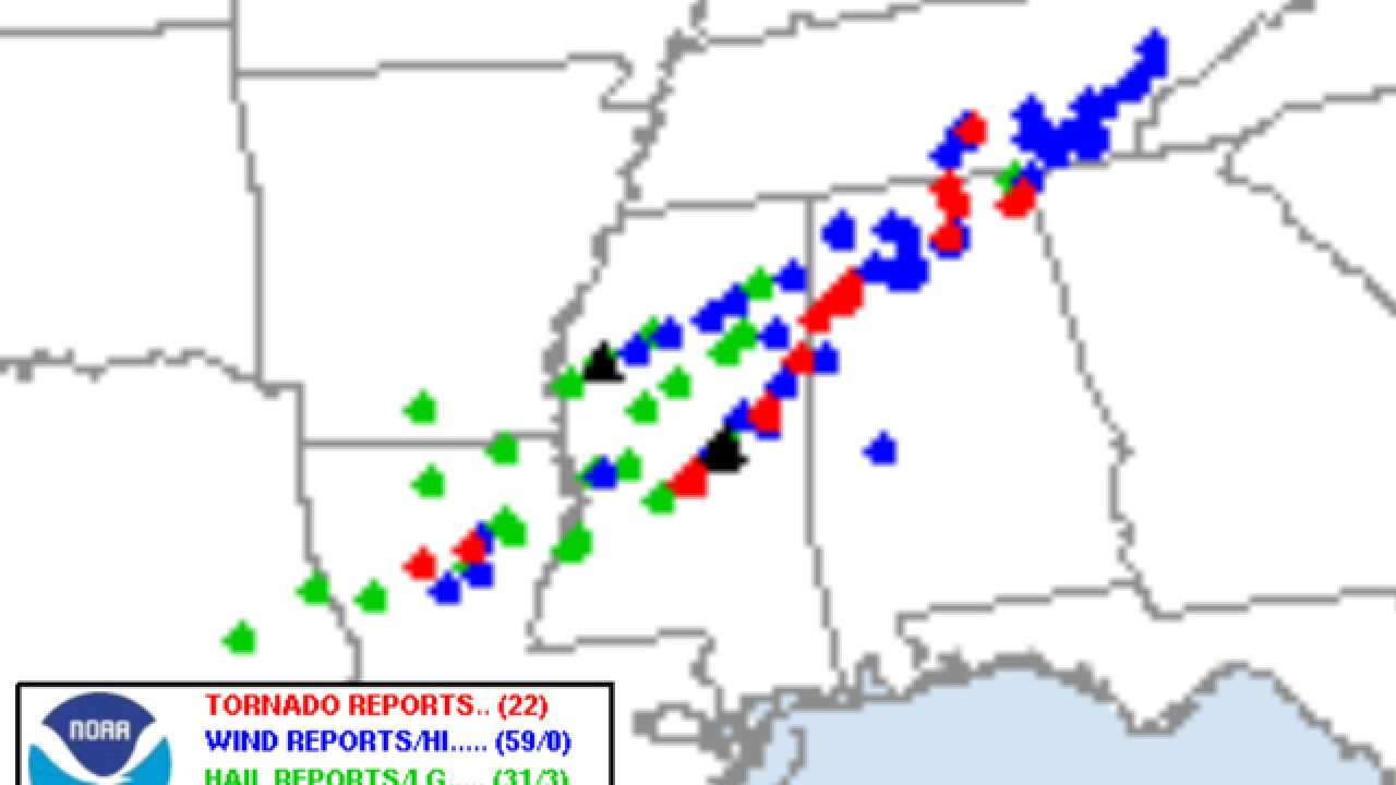 Deadly tornadoes not out of the ordinary in November