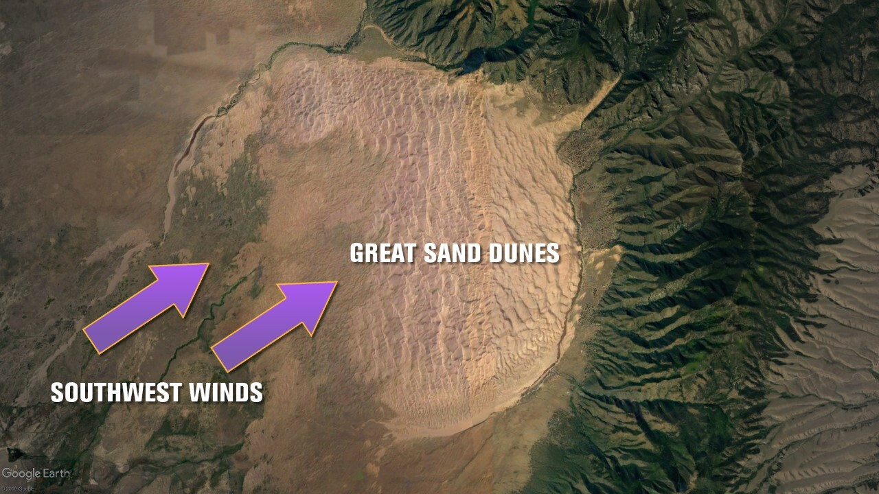 Formation of the Great Sand Dunes National Park and Preserve
