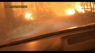 Campers escape by driving through wildfire in Glacier National Park (video)