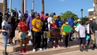A peaceful protest was held June 11, 2020, in Riviera Beach, Florida.
