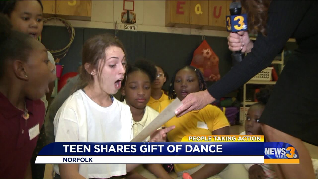 Local high school senior gives free ballet lessons to young students