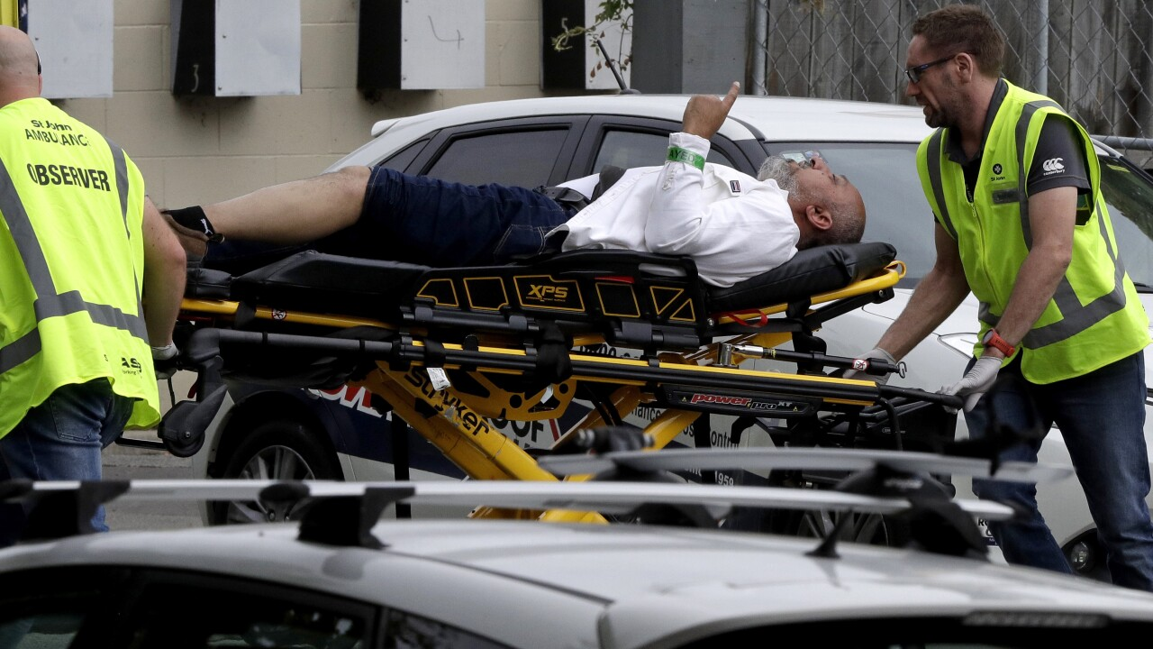 49 killed as gunmen open fire in two mosques in New Zealand's Christchurch