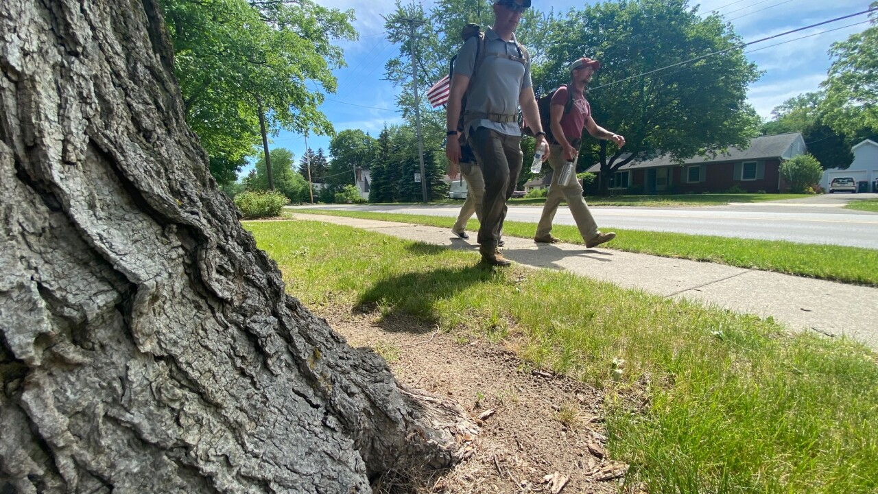 Marines march through West Michigan to raise awareness, money for veteran organizations