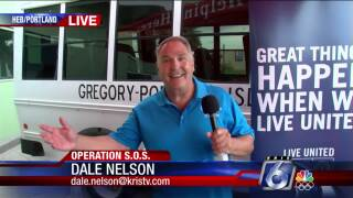 Dale Nelson visits the H-E-B in Portland for Operation SOS