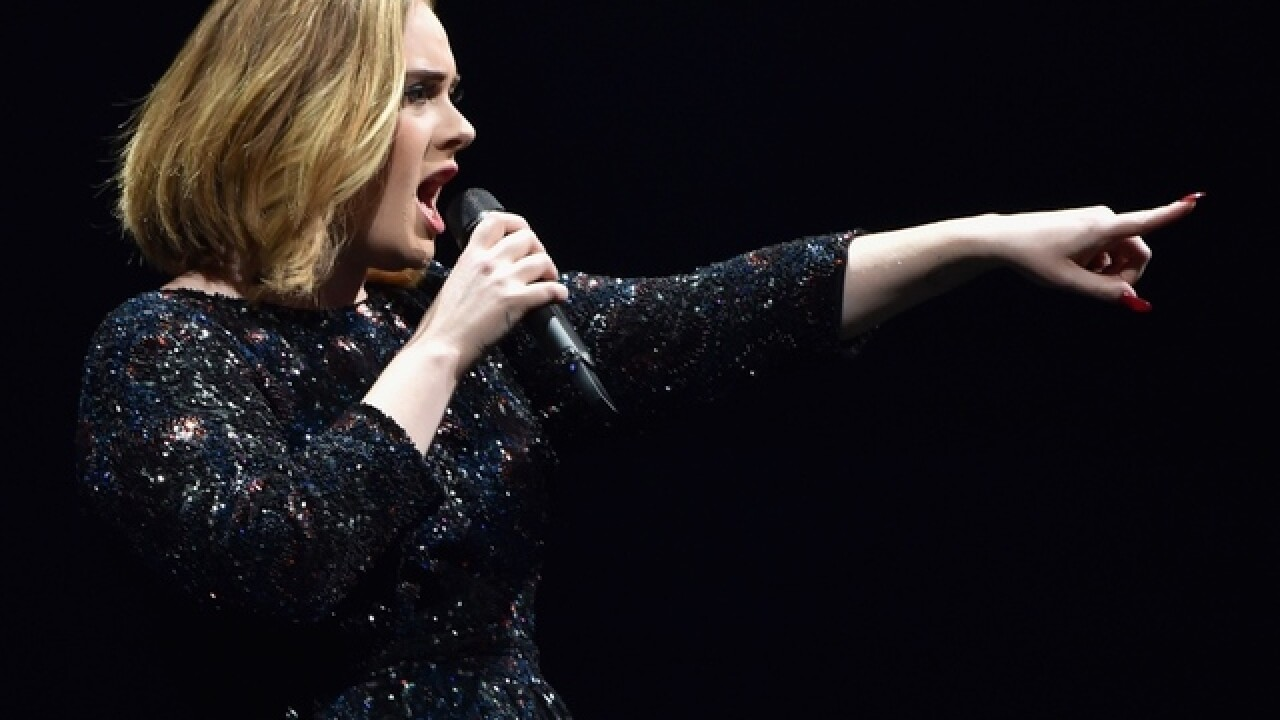 Adele tells fan to stop filming and enjoy show