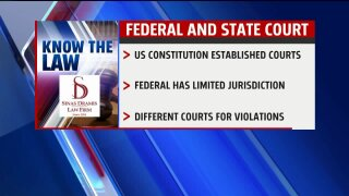 Know the Law: Difference between state and federal courts