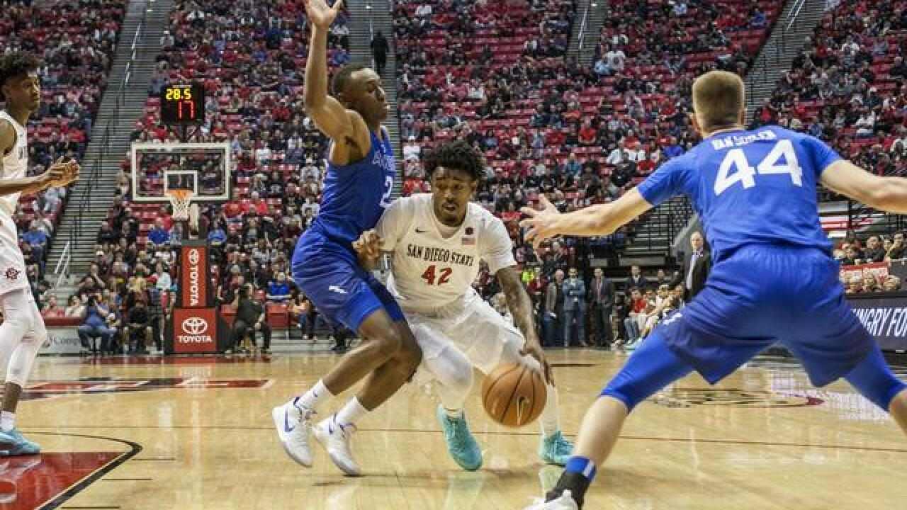 Aztecs stay hot at home with lopsided 81-50 victory over Air Force