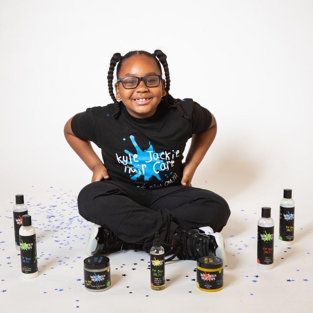 Kyle Winfield-Bishop and his mother found there were few hair products targeting young boys