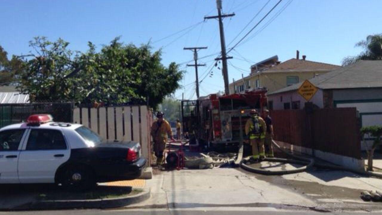 House, van go up in flames in City Heights