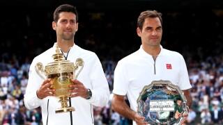 Novak_Djokovic_Roger_Federer_Day Thirteen: The Championships - Wimbledon 2019