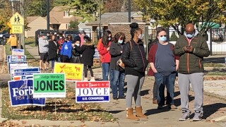 Long lines in Lyndhurst but voting wait times were hit or miss during our polling place visits.