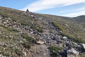 Continental Divide rail_going up James Peak