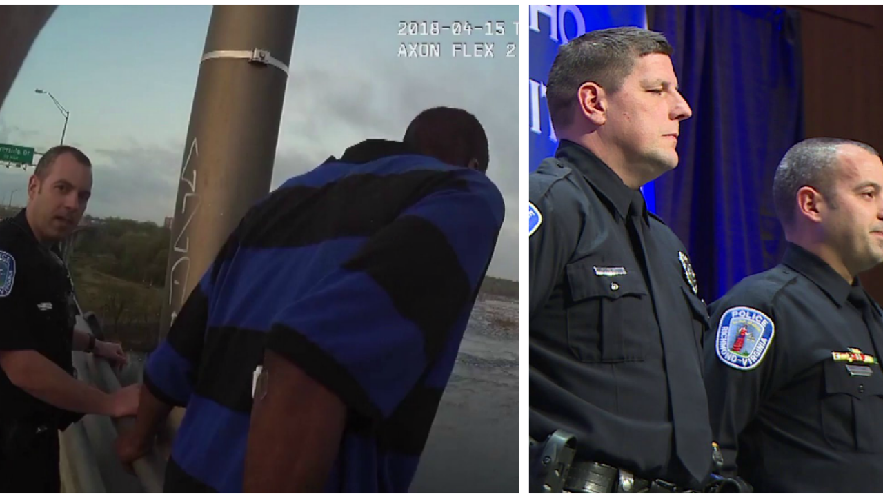Body-cam video shows Richmond officers save suicidal man from jumping offbridge